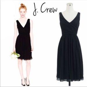 J. Crew Heidi Black Chiffon Dress